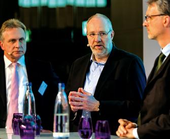 Wachstum in Sachen Nachhaltigkeit hat viele Gesichter: Hier sehen Sie drei davon. Achim Philippus, Klaus Bernshausen und Dr. Helge Wulsdorf (v.l.n.r.). (Foto: Andreas Schwarz)