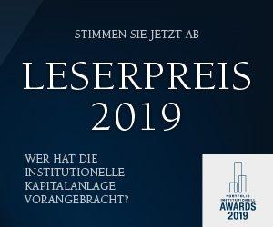 portfolio institutionell Leserpreis 2019 - Stimmen Sie jetzt ab!