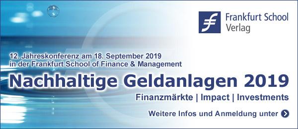 18.09.2019 – Nachhaltige Geldanlagen 2019, Frankfurt