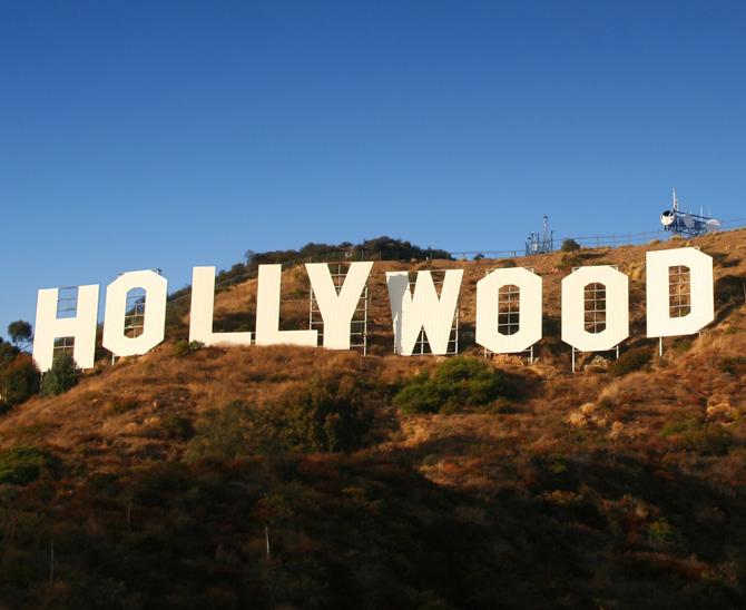 Hollywood-Schriftzug in Los Angeles.