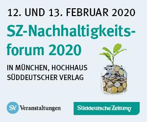 12.-13.02.2020 – SZ-Nachhaltigkeitsforum 2020, München