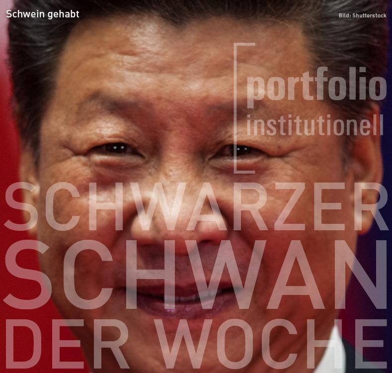 Bild von Xi Jinping, Schwarzer Schwan der Woche, portfolio institutionell