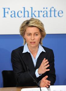 Arbeitsministerin Ursula von der Leyen