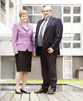 Dr. Bettina Nürk und Peter Hadasch
