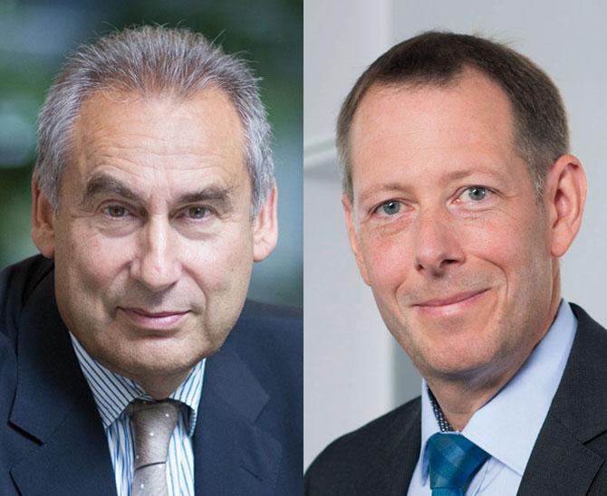 Haben sich rechtzeitig Risikokapital für Freiräume in der Kapitalanlage erschlossen: Dr. Markus Faulhaber, Vorstandsvorsitzender der Allianz Leben, und Chefanleger Andreas Lindner. (Bild: Allianz)