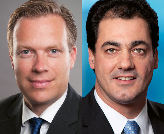 Stefan Bauer Head of Institutional Sales Franklin Templeton und Raymond Jacobs, Managing Director, Portfoliomanager, Real Asset Advisors bei Franklin Templeton, portfolio institutionell