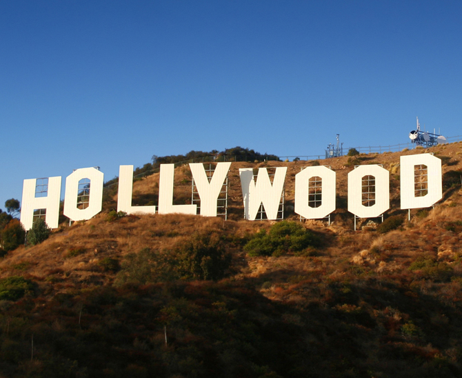 Hollywood-Schriftzug in Los Angeles.
