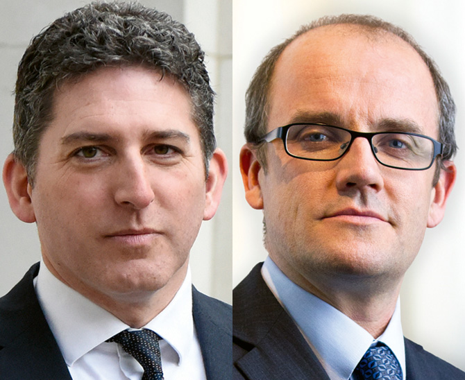 Foto von Gideon Smith und Jonathan White, Rosenberg Equities, Axa Investment Management