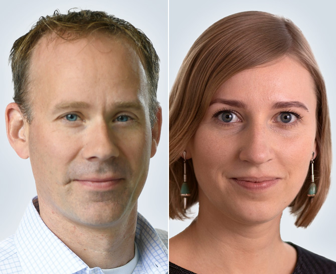 Bram Bos, Lead Portfoliomanager Green Bonds und Jovita Razauskaite, Portfoliomanagerin Green Bonds, von NN Investment Partners