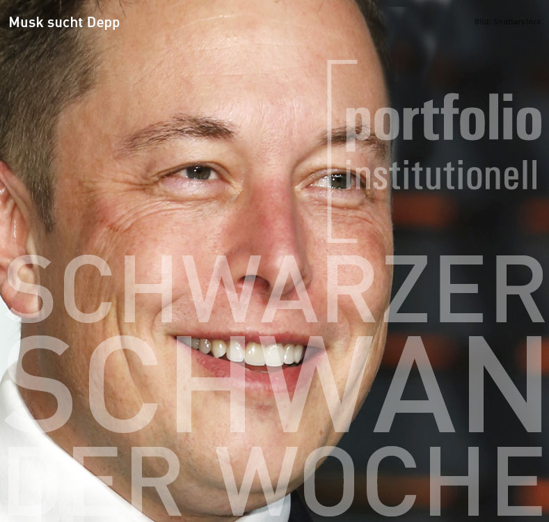 Elon Musk, Schwarzer Schwan der Woche, portfolio institutionell
