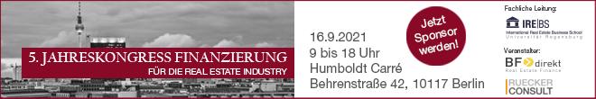 16.09.2021 – Jahreskongress Finanzierung, Berlin