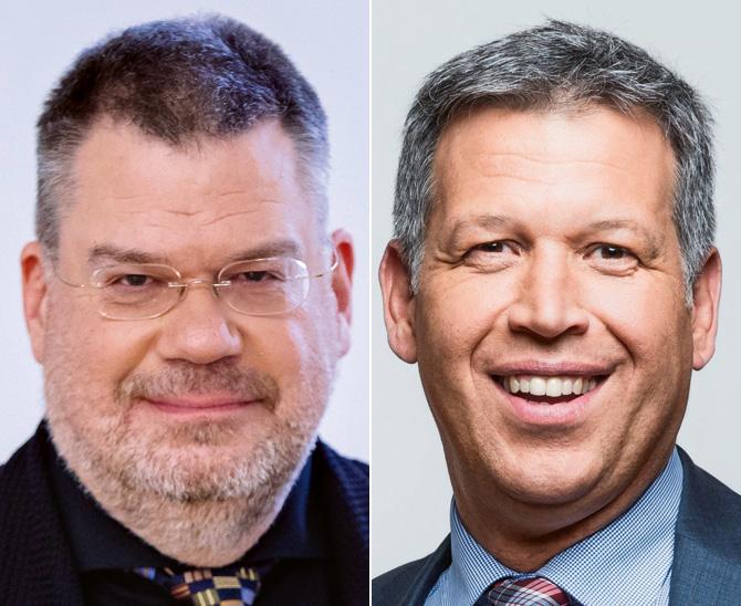 Volker Schmidt-Lafleur, VW der Steuerberater in NRW und Matthias Wenzel (rechts), Leiter Fixed Income Solutions beim Vermögensverwalter MEAG