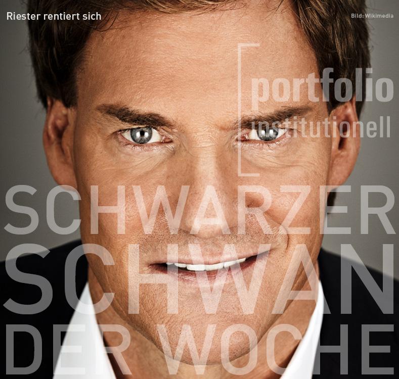 Carsten Maschmeyer, Schwarzer Schwan der Woche, portfolio institutionell