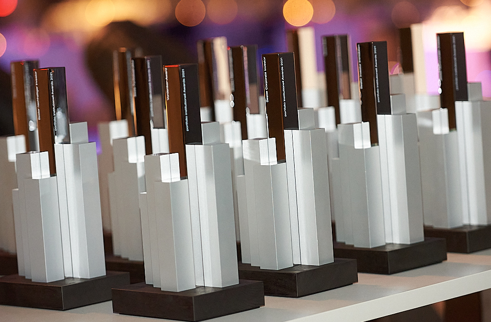 portfolio institutionell Awards 2021, Preisverleihung
