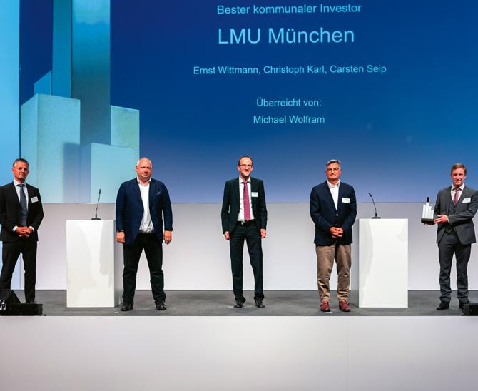 """LMU München wird """"Bester kommunaler Investor"""""""